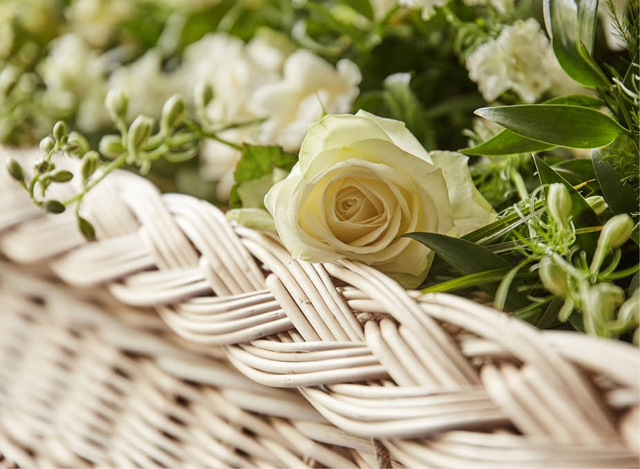 Rose on Willow Casket