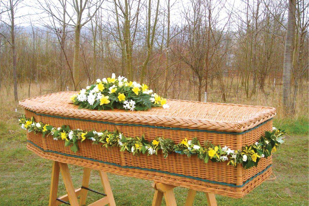 Whicker coffin