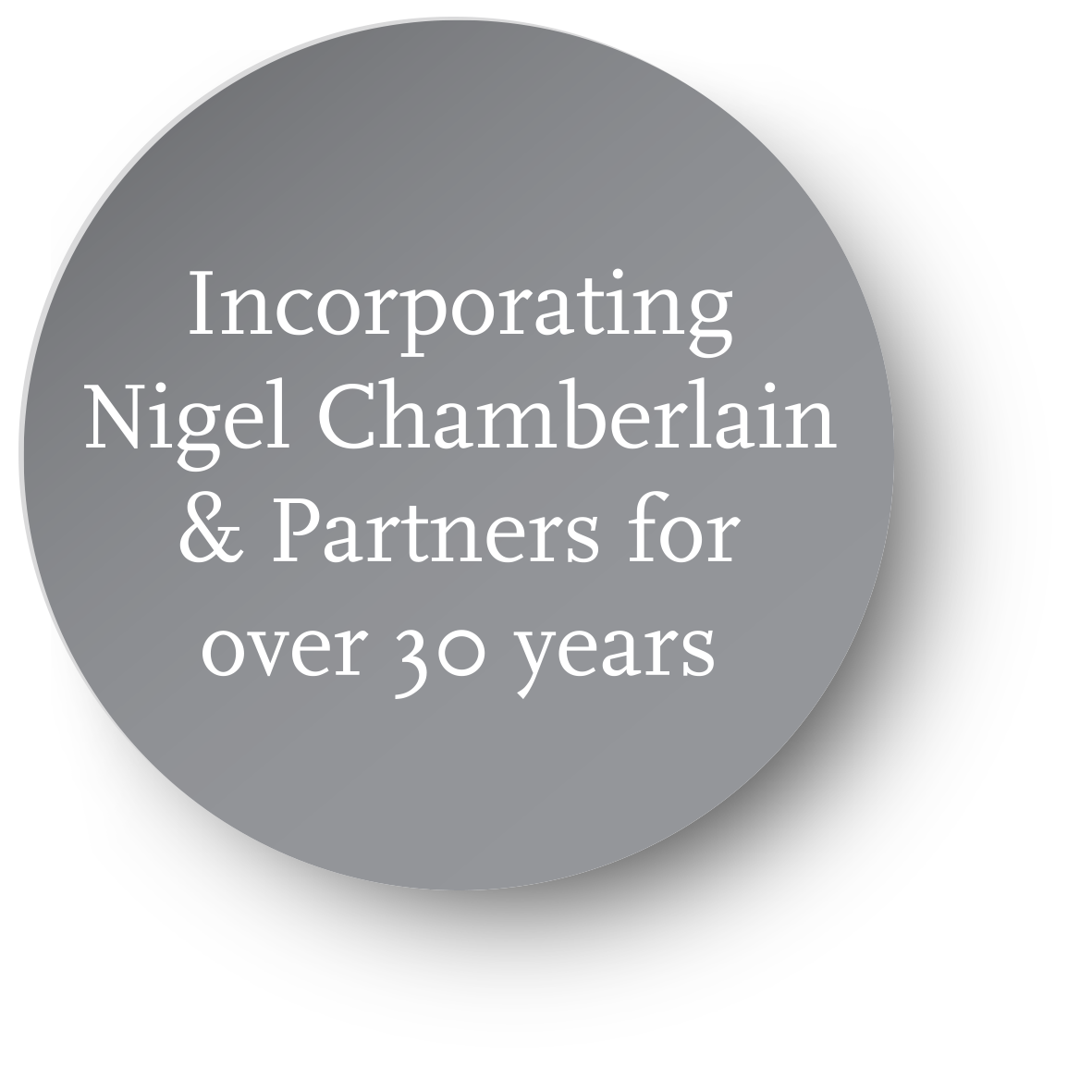 Incorporating Nigel Chamberlain & Partners for over 30 years